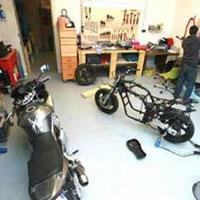 Le garage d'entretien moto de La Bassee dans le Nord